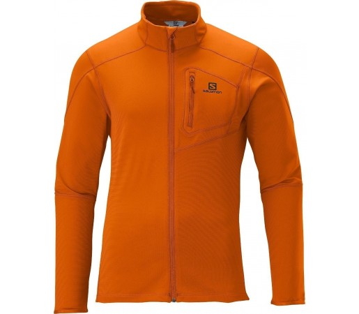 Bluza Salomon DISCOVERY FZ MID Orange