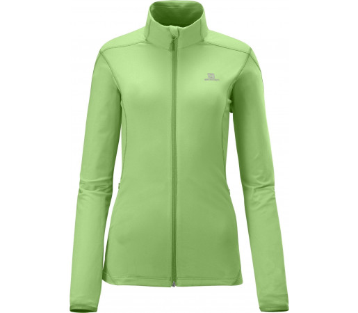 Bluza Salomon DISCOVERY FZ MIDLAYER W LIGHT PARK GREEN