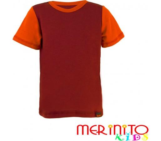 Tricou copii Merinito maneca scurta Mov/Portocaliu