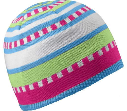 Caciula Salomon Junior Stripe Blue Pink Green