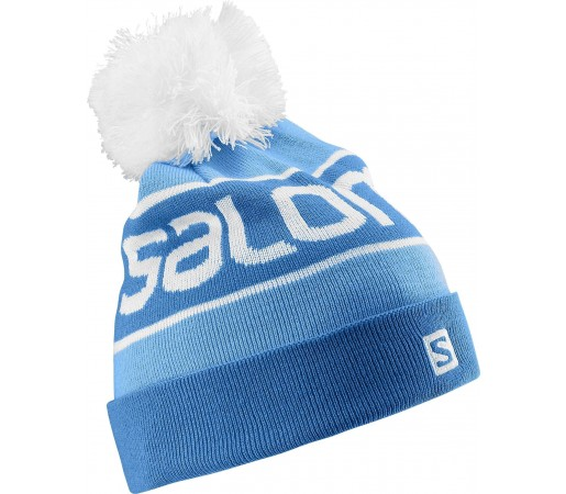 Caciula Salomon Logo Beanie Blue - White