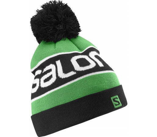 Caciula Salomon Logo Beanie Green - Black
