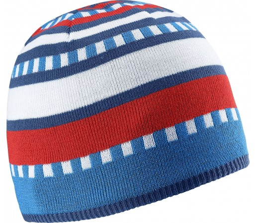 Caciula Salomon Stripe Beanie Blue/Red