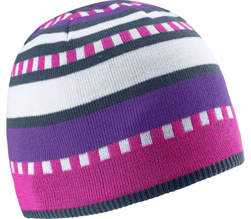 Caciula Salomon Stripe Beanie Purple/Pink