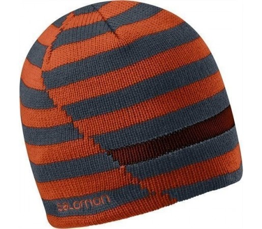Caciula Salomon Stripe Beanie Moab Orange