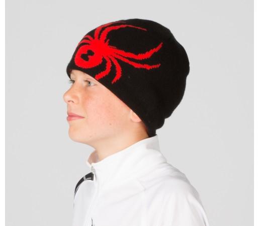 Caciula Spyder Boys Reversible Bug Negru/Rosu