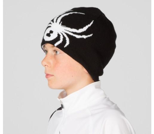 Caciula Spyder Boys Reversible Bug Negru/Alb