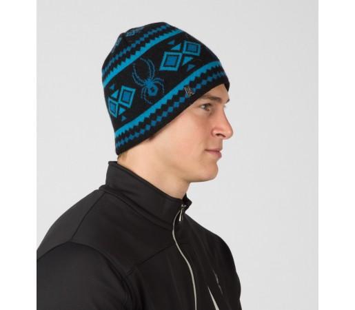 Caciula Spyder Courmayeur Negru/Albastru