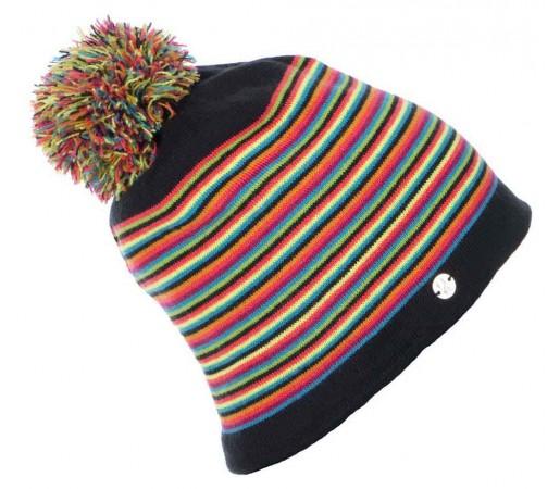 Caciula Spyder Stripes Negru/Multicolor