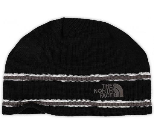 Caciula The North Face Logo Neagra/Gri