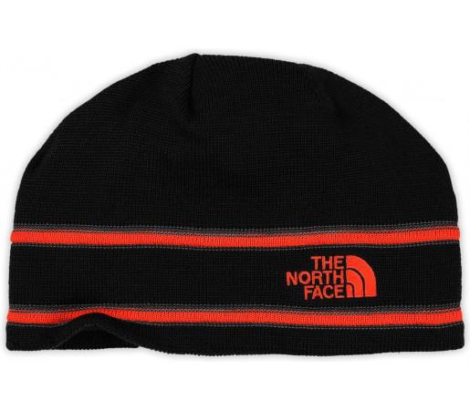 Caciula The North Face Logo Neagra/Portocalie
