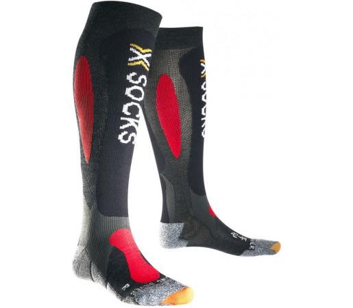 Sosete X-Socks Ski Carving Silver Anthracite/Red