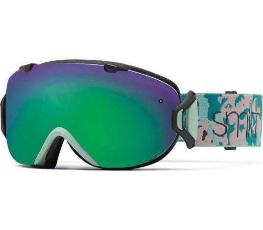 Ochelari Schi si Snowboard Smith I/OS Pastel Camo / Green Sol-X mirror