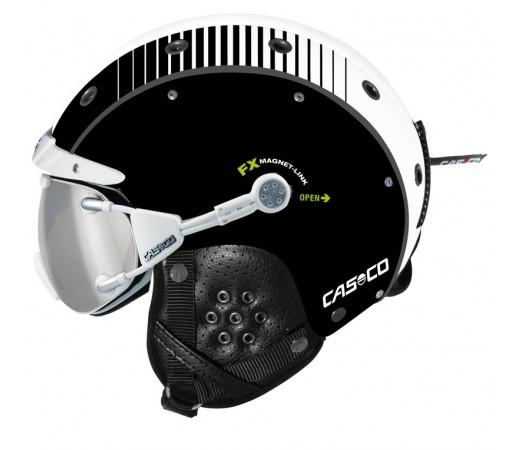 Casca Schi si Snowboard Casco SP-3 Airwolf Racing Negru/Alb