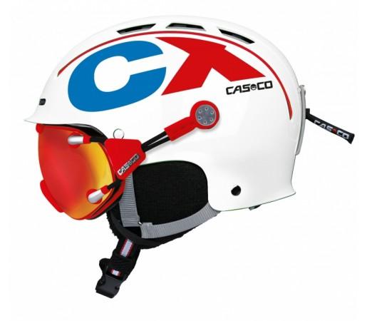 Casca Schi si Snowboard Casco CX-3 Icecube Alb/Rosu/Albastru