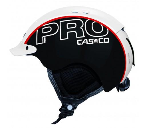 Casca Schi si Snowboard Casco Mini Pro Negru/Alb/Rosu