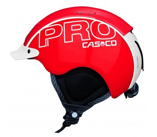 Casca Schi si Snowboard Casco Mini Pro Rosu/Alb