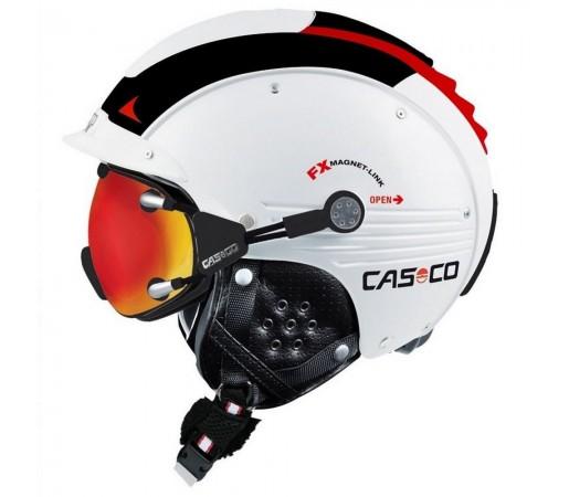 Casca Schi si Snowboard Casco SP-5 Alb/Negru/Rosu