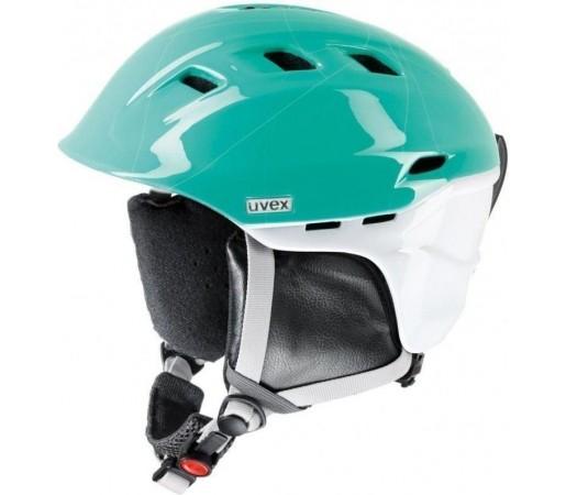 Casca Ski si Snowboard Uvex Comanche 2 Pure White- Turquoise