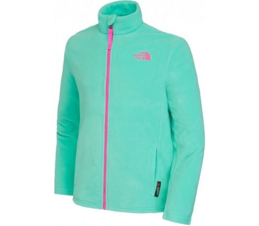 Polar The North Face Y Snow Quest Full Zip Retro Green
