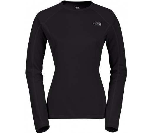 Midlayer The North Face W Warm L/S Crew Neck Negru