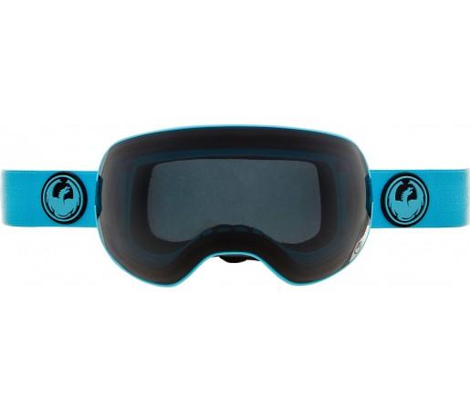 Ochelari Schi si Snowboard Dragon X2 Albastru / Dark Smoke + Yellow Blue