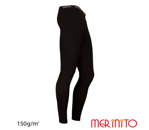 Pantaloni First Layer Merinito Lungi Negri