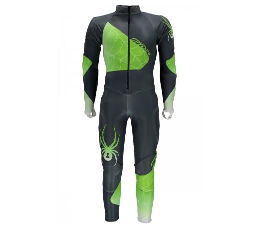 Costum Schi Spyder Boys Nine Ninety Gri/Verde