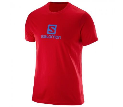 Tricou Salomon Logo Ss Cotton Tee M Rosu