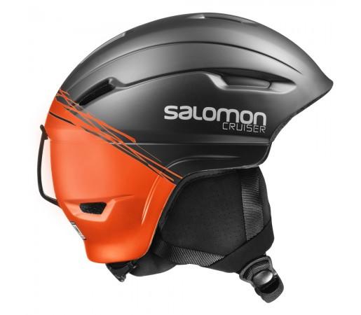Casca schi si snowboard Salomon Cruiser 4D Neagra/ Portocalie