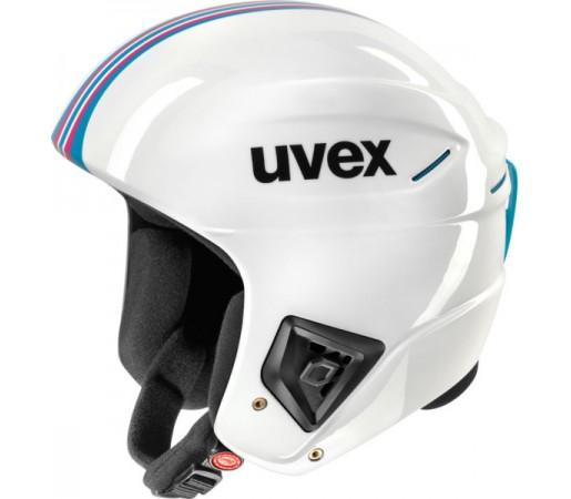 Casca Schi si Snowboard Uvex Race + Alb/Albastra
