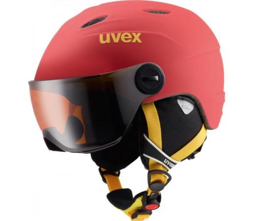 Casca Schi si Snowboard Uvex Junior Visor Pro Rosie