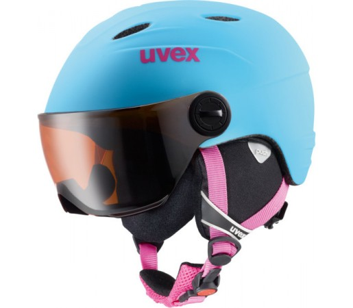 Casca Schi si Snowboard Uvex Junior Visor Pro Albastra
