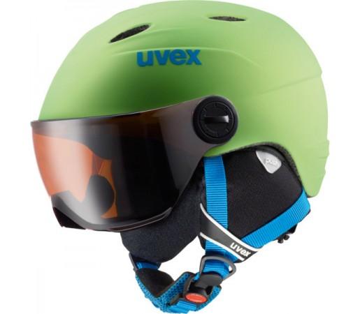 Casca Schi si Snowboard Uvex Junior Visor Pro Verde