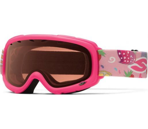 Ochelari Schi si Snowboard Smith Gambler Air Bright Pink Cupcakes /RC36 Rose Copper