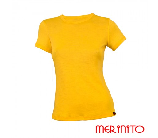 Tricou Merinito Dama Galben
