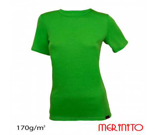 Tricou First Layer Merinito Dama Verde Forest