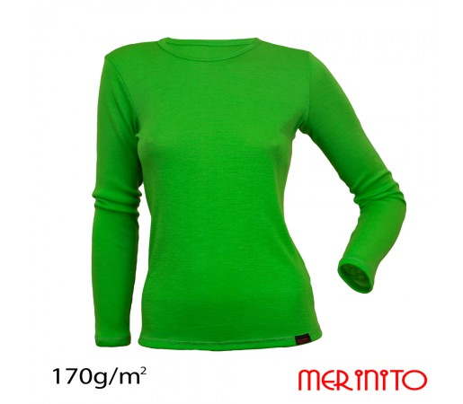 Bluza First Layer Femei Merinito Verde Forest