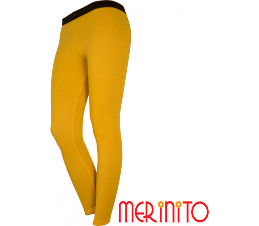 Pantaloni First Layer Merinito Dama Galbeni