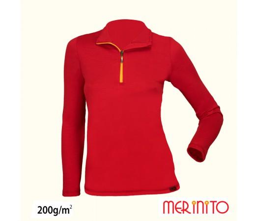 Bluza femei Merinito 200g/mp Rosie/ Portocalie