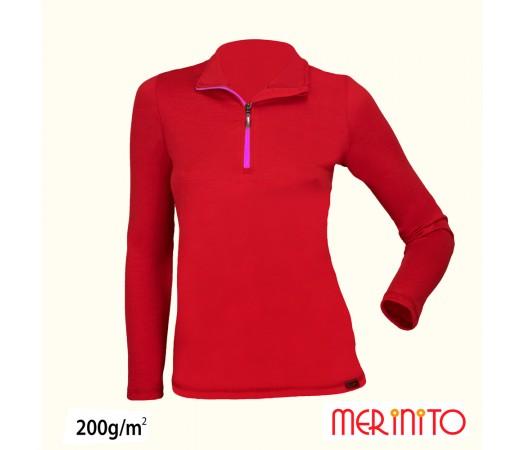 Bluza femei Merinito 200g/mp Rosie/ Mov