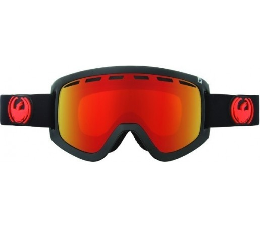 Ochelari Schi si Snowboard Dragon D1 Jet  / Red Ion + Yellow Blue Ion