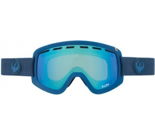 Ochelari Schi si Snowboard Dragon D1 Ultramarine Heather Albastru / Steel Blue + Yellow