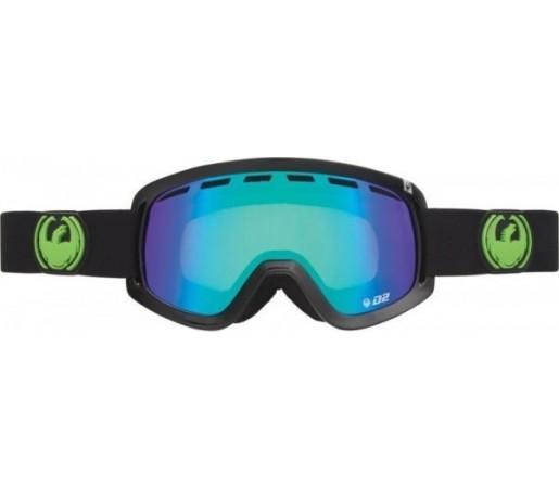 Ochelari Schi si Snowboard Dragon D2 Jet  Negru / Green Ion+ Yellow Blue Ion