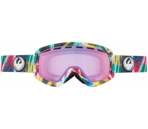 Ochelari Schi si Snowboard Dragon D2 Lightshow / Pink Ion + Yellow Blue Ion