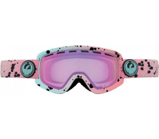 Ochelari Schi si Snowboard Dragon D2 Splatt / Pink Ion + Yellow Blue Ion