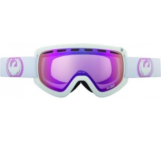 Ochelari Schi si Snowboard Dragon D2 White  / Pink Ion + Ionized