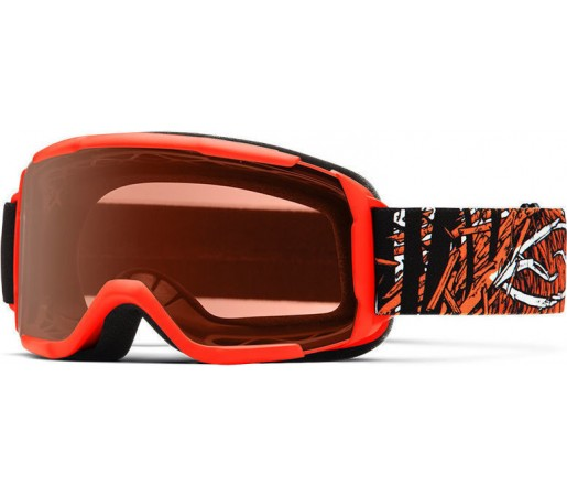 Ochelari Schi si Snowboard Smith Daredevil Neon Orange Stickfort / RC 36 Rose Copper