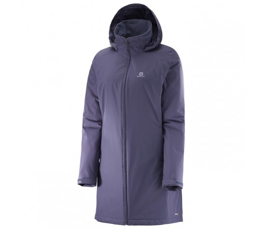 Geaca Salomon Elemental Insulation Long Jacket W Bleumarin