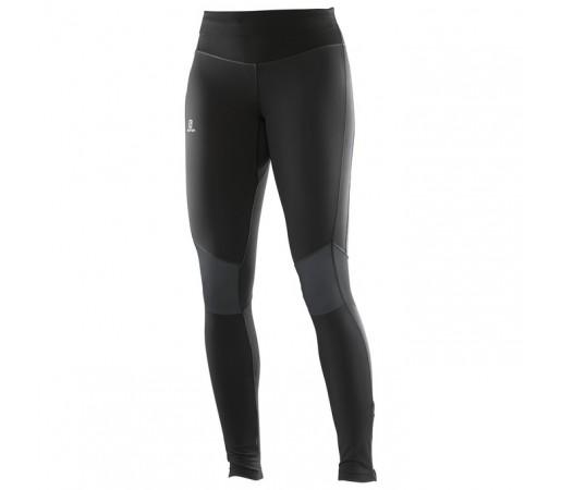 Pantaloni Salomon Elevate Warm Tight W Negri